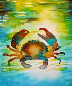 turquoise crabs paintings - Google Search