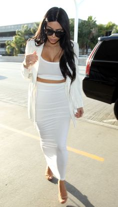 white hot In all white at LAX airport.