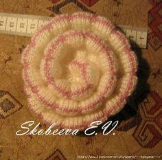 цветок на вязальной машине от eles70