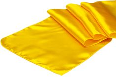 Satin Table Runner - Canary Yellow (Bright Yellow) ● As Low as $1.49