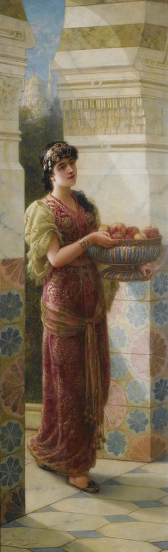 The Fruit Seller Emile Eisman-Semenowsky