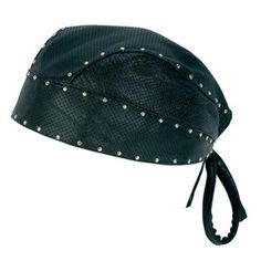 Genuine-Leather Studded Biker Bandana ALEX'S WINTER PICK, LADIES!!
