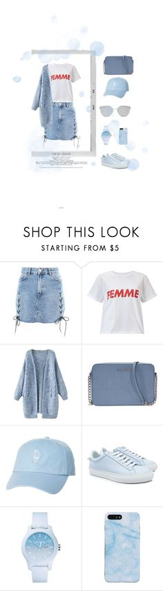 """""""Blue"""" by deichaac on Polyvore featuring Topshop, Polaroid, Miss Selfridge, Michael Kors, Rip Curl, Givenchy, Lacoste and Gentle Monster"""