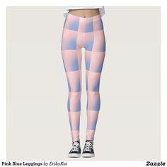 Pink Blue Leggings