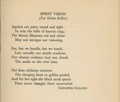a favorite Countee Cullen poem. | Poetry I Love | Pinterest | As ...