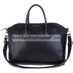 Givenchy Black Antigona Duffel Calfskin Embossed Leather Tote Bag detailed physical characteristics and size, so that you can have a more detailed information about it.  Calfskin Embossed leather duffel with top zip, rolled leather handles and flat leather shoulder strap. Laced detail throughout. Fabric lined interior with zipper pocket and two organizational pockets.  http://www.handbagsbagsmall.com/products/Givenchy-Black-Antigona-Duffel-Calfskin-Embossed-Leather-Tote-Bag.html