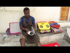HANDMADE AFRICAN WAX PRINT BAGS, SHOES & MORE - YouTube