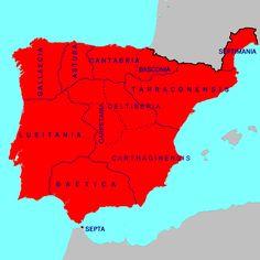 Mapa de la Hispania visigoda (700 CE)