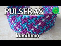 YouTube Kumihimo Bracelet, Macrame Necklace, Macrame Bracelets, Macrame Projects, Crochet Videos, Beaded Embroidery, Crafts To Make, Jewelry Crafts, Friendship Bracelets