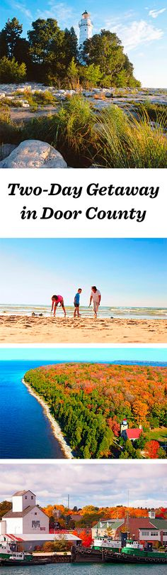 State parks and roadside cherry stands keep visitors coming back to this famed peninsula, 45 minutes northeast of Green Bay. Door County booms in summer and mellows slightly in fall. But it's a popular destination anytime of year: http://www.midwestliving.com/travel/wisconsin/door-county/two-day-getaway-door-county/ #doorcounty #wisconsin
