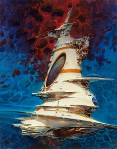 John Berkey - Up in Space