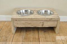 honden voederbak hout | Voertafel middel hond | Hond & Kat | Hout Lifestyle