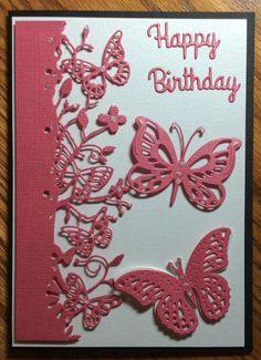 Memory Box Kensington border, Spellbinders butterfly