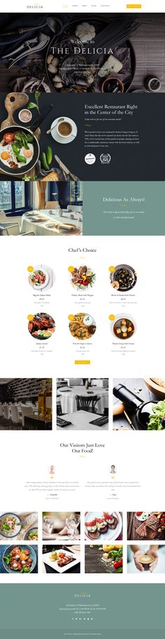 WordPress Minimal Theme Website Templates from ThemeForest Website Design Inspiration, Food Web Design, Blog Design, Design Design, Graphic Design, Pag Web, Restaurant Website Design, Wordpress Website Design, Wordpress Theme