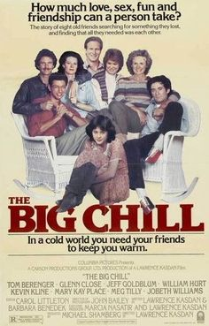 The Big Chill (1983) Directed and Written by #LawrenceKasdan Starring #TomBerenger #GlennClose #JeffGoldblum #WilliamHurt #KevinKline #MaryKayPlace #MegTilly #JoBethWilliams #TheBigChill #Hollywood #hollywood #picture #video #film #movie #cinema #epic #story #cine #films #theater #filming #movies #moviemaking #movieposter #movielover #movieworld #movielovers #movienews #movieclips #moviemakers #drama #filmmaking #cinematography #filmmaker #screen #screenplay Big Chill Movie, Jobeth Williams, Tom Berenger, William Hurt, South Carolina Vacation, Kevin Kline, The Big C, Movie Talk, Glenn Close