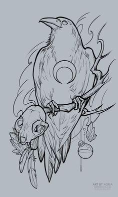 Alisa gornostaeva cr w 2 – Tier-Tattoo Vorlagen – Alisa gornostaeva cr w 2 – Tier-Tattoo Vorlagen – - Popular Tattoo Designs Tattoo Design Drawings, Art Drawings Sketches, Tattoo Sketches, Tattoo Designs, Tattoo Ideas, Crow Tattoo Design, Bird Drawings, Simple Animal Drawings, Ink Illustrations