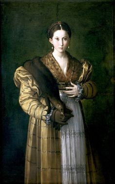 Italian Renaissance symbolizes the guardaroba, 3 part garment (two layers of indoor clothing and a mantle for outdoors).