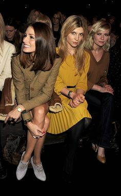 Olivia Palermo, Clemence Posey, Kirsten Dunst @ Mulberry FW 2011