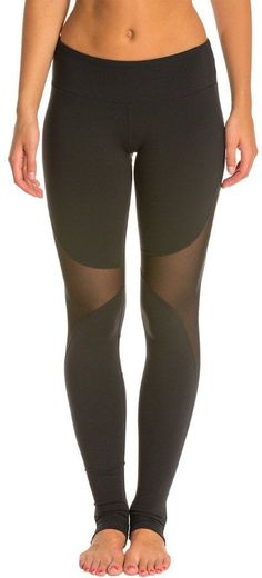 "Stay dry and comfortable in these capri leggings Prevent chafing thanks to flatlock seams 17"" inseam"