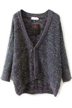 Casual Sequin Deco Mohair Cardigan