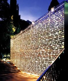 Wall located in public space, with beautiful illumination