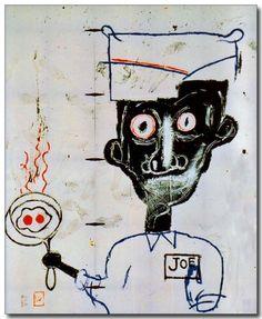 "inneroptics:    Jean-Michel Basquiat ""Eggs and Eyes,"" 1983"