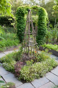 beautiful backyard garden design ideas can for your garden planning 2 - New ideas Rustic Garden Decor, Rustic Gardens, Rustic Arbor, Rustic Backyard, Woodland Garden, Backyard Ideas, Potager Garden, Garden Trellis, Herbs Garden