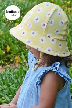 babc5c2b433 Girls baby bucket hat in  Olivia  lemon print with strap. Rated for  excellent summer protection!
