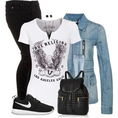 Vero Moda LIZA Denim jacket, created by cnh92 on Polyvore