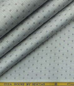 Soktas Men's Light Silver Grey Giza Cotton Dobby Shirt Fabric|The Libas Store Shirting Fabric, Jacquard Fabric, African Attire For Men, Dobby Fabric, Border Embroidery Designs, Stylish Shirts, Giza, Fashion Fabric, Fabric Online