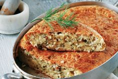 feta pie with spring onions and dill! Greek Desserts, Greek Recipes, Yummy Recipes, Savory Muffins, Savoury Pies, Greek Cooking, Food Categories, Different Recipes, Menu Planning