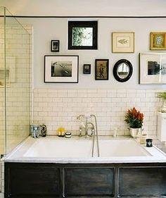 off-white tile + white wall