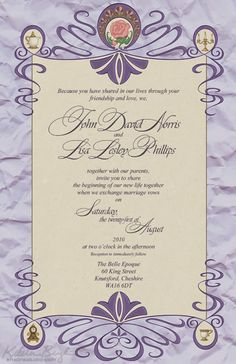Beauty and the Beast Wedding Invitations | http://simpleweddingstuff.blogspot.com/2014/02/beauty-and-beast-wedding-invitations.html