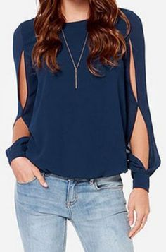 Casual chiffon tops Women Blouse Sexy Blusas Ladies Solid Elegant Blouses hollow out Femininas Long Sleeve tank Tops plus size Casual Outfits, Cute Outfits, Fashion Outfits, Womens Fashion, Fashion Blouses, Fashion Sale, Office Outfits, Style Fashion, Fashion Trends