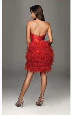 Short Strapless Allure Dress NM-A410