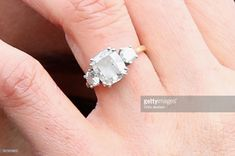 Meghan Markle, rings detail, visits Edinburgh Castle on February 13, 2018 in Edinburgh, Scotland.  (Photo by Chris Jackson/Getty Images)