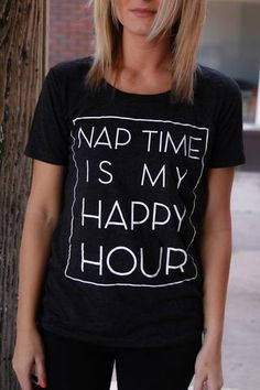 Naptime is my Happy Hour Charcoal Adult Tee