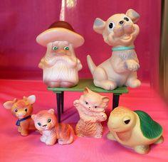 Советские резиновые игрушки ussr рез тигр и тд