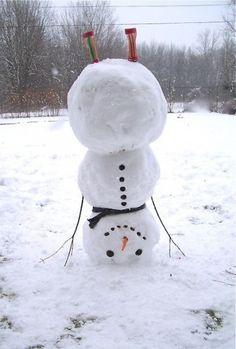genius snowman idea