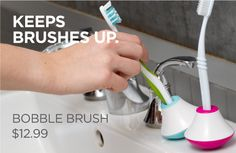 Keeps toothbrushes upright. Can also be used for desk pens