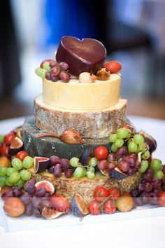Cheese cake tower with wooden mice!