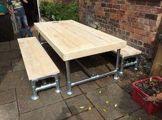 Custom garden set scaffold board and poles by rdg-carpentry.co.uk