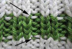 Avoiding bi-colored purls in ribbing Feel free to follow and join our new community board : Knitting stitches and tutorials for all. http://pinterest.com/DUTCHYLADY/knitting-stitches-tutorials-for-all/