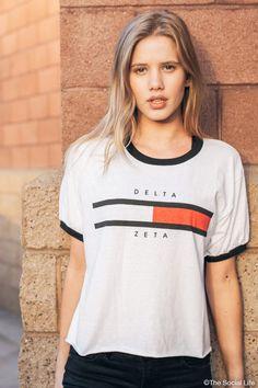 Delta Zeta Hil Ringer Tee