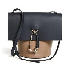 ZAC Zac Posen Belay Cross Body Colorblock Bag ($300) ❤ liked on Polyvore featuring bags, handbags, navy, navy blue handbags, navy leather purse, navy handbags, leather cross body handbags and leather purse