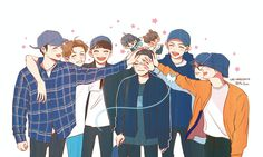 Image in chibi exo collection by Anaîs Henrondale Exo Fanart, Chanbaek Fanart, K Pop, Kpop Anime, Exo Album, Wallpaper Aesthetic, Nature Sketch, Exo Lockscreen, Exo Do