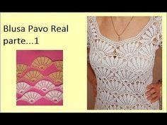 en este vídeo les comparto una hermosa blusa de abanicos que se trabajan uno a uno para formar la blusa