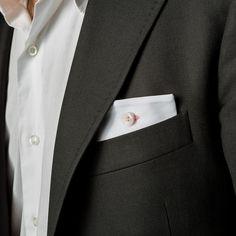 pochette da giacca Eyelet Milano, Friday, piquet bianco e asola di cotone lilla, #madeinitaly #eyeletmilano