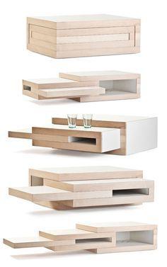 table basse très originale en bois