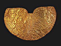 Thracian gold breastplate, found In 1879 in a burial mound near the village of Dalboki, Stara Zagora ( 5th century BC )